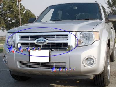 APS - Ford Escape APS Billet Grille - Upper - Aluminum - F65783A