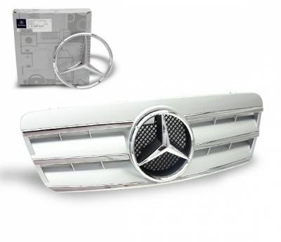 4CarOption - Mercedes CLK 4CarOption Front Hood Grille - GRG-W2089802GCL3-S