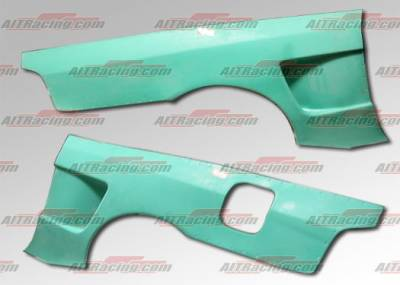AIT Racing - Honda Prelude AIT Racing NX Style Wide Rear Quarter Panels - HP97HINXSQP
