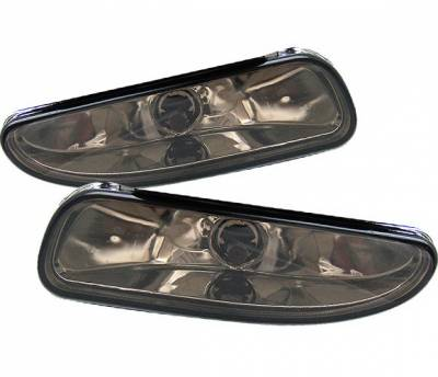 4 Car Option - Ford Mustang 4 Car Option Fog Light Kit without Bracket - Smoke - LHF-FM99SM-DP