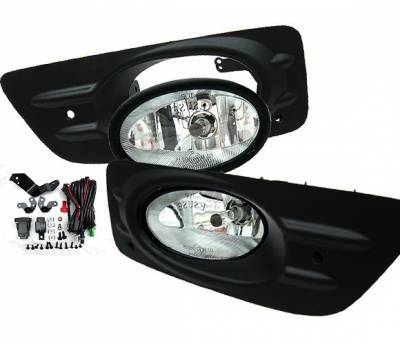 4 Car Option - Honda Accord 4DR 4 Car Option Fog Light Kit - Clear - LHF-HA064C