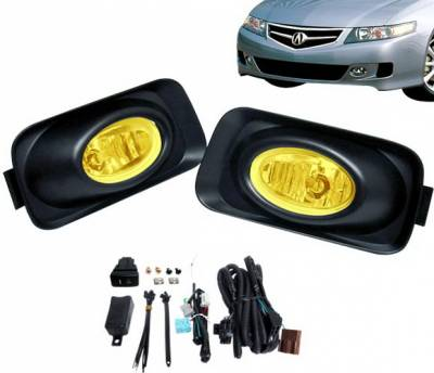 4 Car Option - Acura TSX 4 Car Option Fog Light Kit - Yellow - LHF-TSX-YL