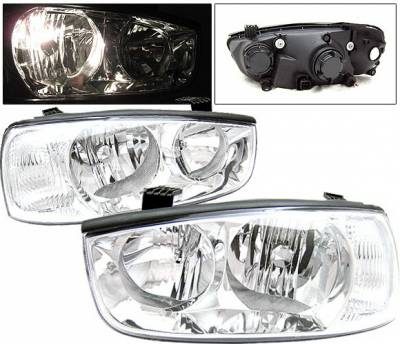 4 Car Option - Hyundai Elantra 4 Car Option Headlights - Clear - LH-HYE01C-KS