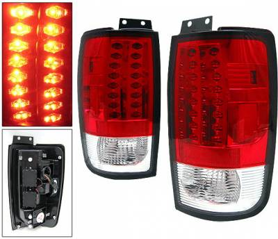 4 Car Option - Ford Expedition 4 Car Option LED Taillights - Red - LT-FE97LEDR
