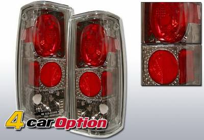 4 Car Option - Chevrolet S10 4 Car Option Altezza Taillights - Gunmetal - LT-GS82G-YD
