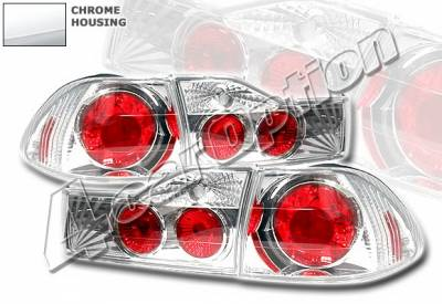 4 Car Option - Honda Accord 4DR 4 Car Option Altezza Taillights - Chrome - LT-HA014A-YD