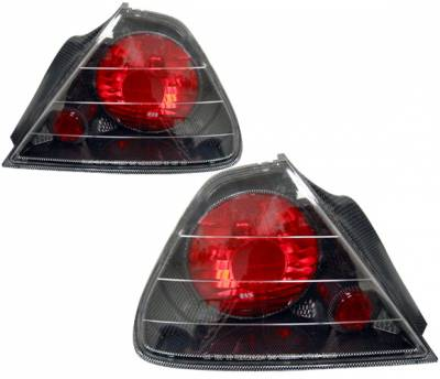4 Car Option - Honda Accord 2DR 4 Car Option Altezza Taillights - Carbon Fiber Style - Side - 2PC - LT-HA982F-YD