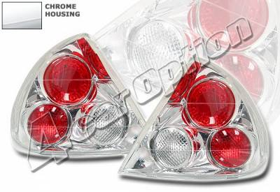 4 Car Option - Mitsubishi Mirage 4 Car Option Altezza Taillights - Chrome - LT-MM97A-YD