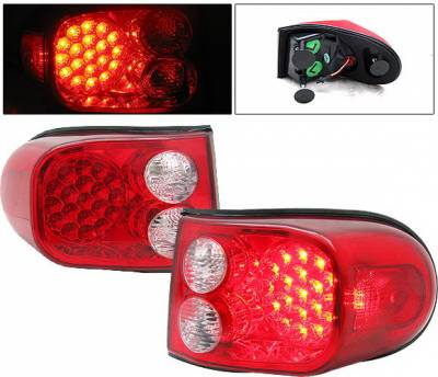 4 Car Option - Toyota FJ Cruiser 4 Car Option LED Taillights - Red & Clear - LT-TFJC07LEDRC-9