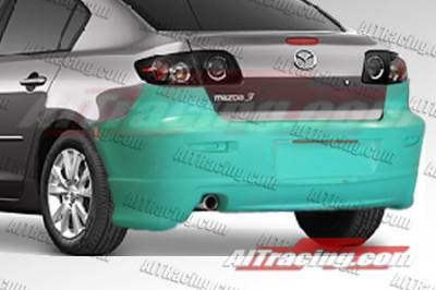 AIT Racing - Mazda 3 4DR AIT Racing KS Style Rear Bumper - M302HIKENRB4