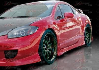 AIT Racing - Mitsubishi Eclipse AIT Racing Blackout-2 Style B-Magic Side Skirts - ME06BMBKO2SS