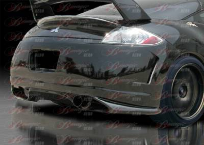AIT Racing - Mitsubishi Eclipse AIT Racing Blackout-1 Style B-Magic Rear Bumper - ME06BMBKORB