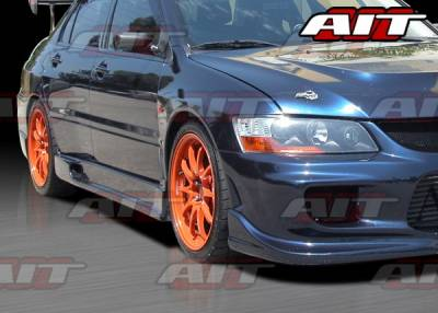 AIT Racing - Mitsubishi Lancer AIT I-Spec Style Side Skirts - MEVO03HIINGSS
