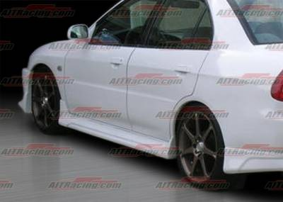 AIT Racing - Mitsubishi Mirage 4DR AIT Racing EVO V Style Side Skirts - MMG97HIEVOSS4