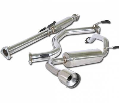 4 Car Option - Acura Integra 4 Car Option Cat-Back Exhaust System with Stainless Steel Tip - MUX-AI90