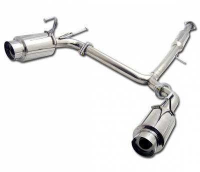 4 Car Option - Nissan 350Z 4 Car Option Cat-Back Exhaust System with Stainless Steel Tip - MUX-N350Z