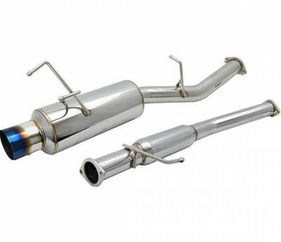 4 Car Option - Nissan 240SX 4 Car Option Cat-Back Exhaust System with Titanium Tip - MUX-NS13-TT