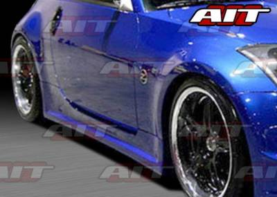 AIT Racing - Nissan 350Z AIT ING-2 Style Side Skirts - N3502HIING2SS