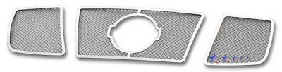 APS - Nissan Titan APS Wire Mesh Grille - with Logo Opening - Upper - Stainless Steel - N75412T