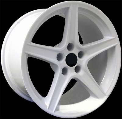 AM Custom - Ford Mustang White S Style Wheel