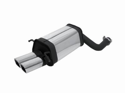Remus - Mercedes-Benz C Class Remus Rear Silencer with Dual Exhaust Tips - Square - 508100 0548
