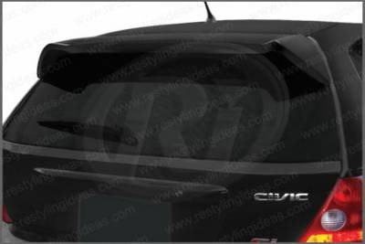 Restyling Ideas - Honda Civic HB Restyling Ideas W-Type Roof Wing Spoiler - 01-HOCI02HBR