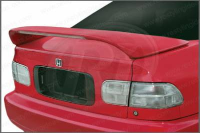 Restyling Ideas - Honda Civic 2DR Restyling Ideas Mid Wing Spoiler with LED - 01-HOCI92ML