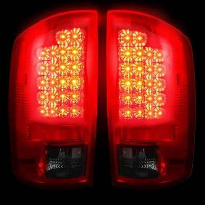 Recon - Recon LED Taillights with Dark Red Smoked Lens - 264171RBK