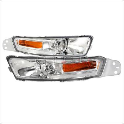 Spec-D - Ford Mustang Spec-D Bumper Lights - Chrome - 2LB-MST05-TM