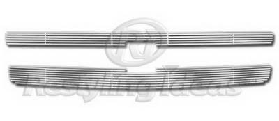 Restyling Ideas - Chevrolet Silverado Restyling Ideas Upper Grille -Stainless Steel Chrome Plated Billet - 72-SB-CHSIL07-T