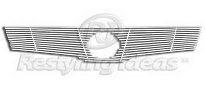 Restyling Ideas - Nissan Altima Restyling Ideas Upper Grille -Stainless Steel Chrome Plated Billet - 72-SB-NIALT07-T