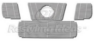 Restyling Ideas - Nissan Titan Restyling Ideas Upper & Lower Grille - Stainless Steel Chrome Plated Billet - 72-SB-NITIT04-TB