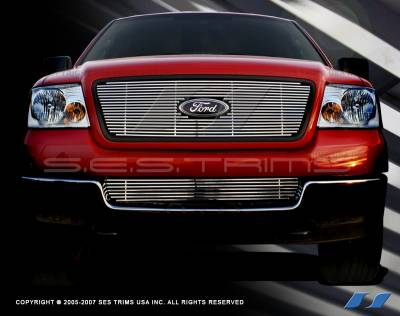 SES Trim - Ford F150 SES Trim Billet Grille - 304 Chrome Plated Stainless Steel - CG103