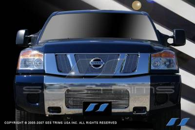 SES Trim - Nissan Titan SES Trim Billet Grille - 304 Chrome Plated Stainless Steel - CG187