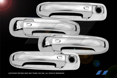 SES Trim - Dodge Ram SES Trim ABS Chrome Door Handles - with Passenger Keyhole - DH144-4K