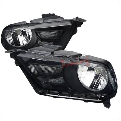 Spec-D - Ford Mustang Spec-D Euro Headlights - Smoke Lens - LH-MST10SM-RS