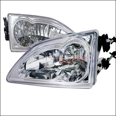Spec-D - Ford Mustang Spec-D Chrome Housing Headlights - LH-MST94-RS