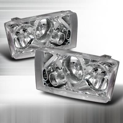 Spec-D - Ford F350 Superduty Spec-D Projector Headlights - Chrome - LHP-F25099-APC