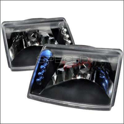 Spec-D - Ford Ranger Spec-D Crystal Housing Headlights - Black - LH-RAN98JM-TM