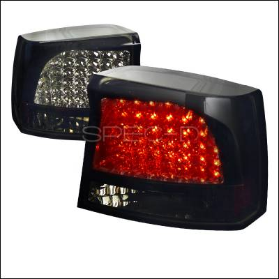 Spec-D - Dodge Charger Spec-D LED Taillights Glossy - Black Housing with Smoke Lens - LT-CHG05BBLED-TM