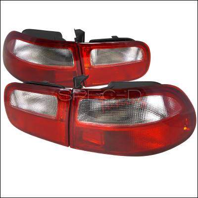 Spec-D - Honda Civic HB Spec-D Taillights - Red & Clear Lens - LT-CV923RPW-RS