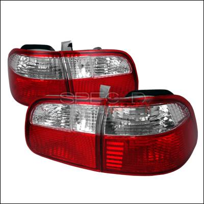 Spec-D - Honda Civic 4DR Spec-D Taillights - Red & Clear - LT-CV994RPW-DP