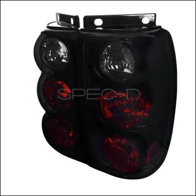 Spec-D - Ford Explorer Spec-D Euro Taillights with Glossy Black Housing & Smoke Lens - LT-EPOR95BB-TM