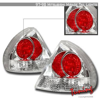 Spec-D - Mitsubishi Mirage Spec-D Altezza Taillights - Chrome - LT-MRG97-KS