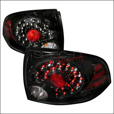 Spec-D - Nissan Sentra Spec-D LED Taillights - Black - LT-SEN04JMLED-DP