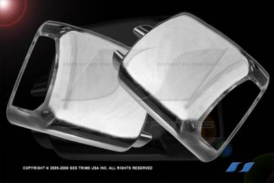 SES Trim - Toyota Tundra SES Trim ABS Chrome Full Mirror Cover with Turn Signal - MC178