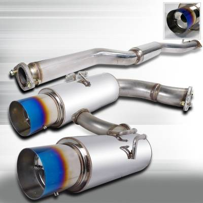 Spec-D - Mitsubishi Lancer Spec-D N1 Style Catback Exhaust with Burnt Tip - MFCAT3-LAN02T-SD