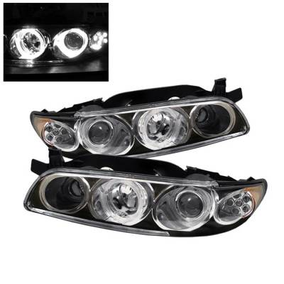 Spyder Auto - Pontiac Grand Prix Spyder LED Projector Headlights - 1PC - Black - PRO-ON-PGP97-1PC-LED-BK