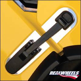 RealWheels - Hummer H2 RealWheels Hood Latch Trim - Polished Stainless Steel - Pair - RW119-1-A0102
