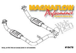 MagnaFlow - MagnaFlow Direct Fit 2.5 Inch Performance Catalytic Converter - 15478